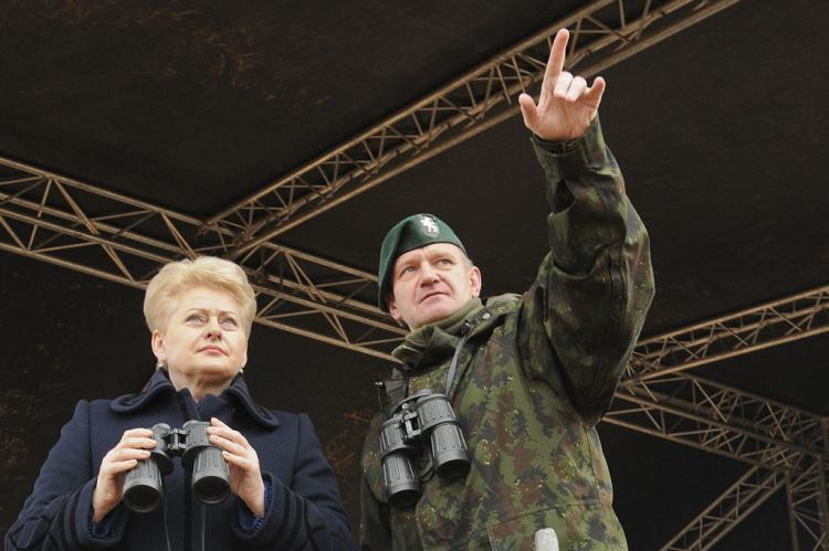 Грибаускайте опять ждет вторжения России в Литву