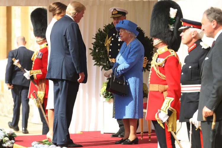 Трамп опоздал на чаепитие с Елизаветой II