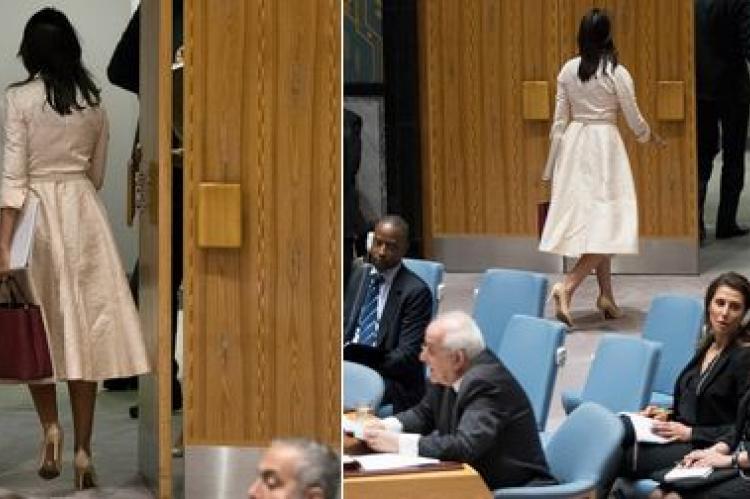 Хейли демонстративно покинула Совбез ООН