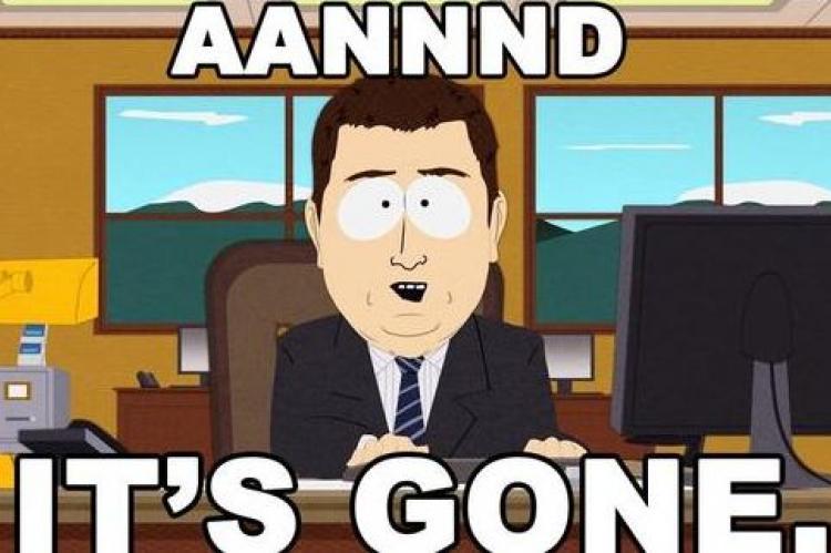 Организаторы ICO Savedroid оставили после себя мем из мультсериала South Park