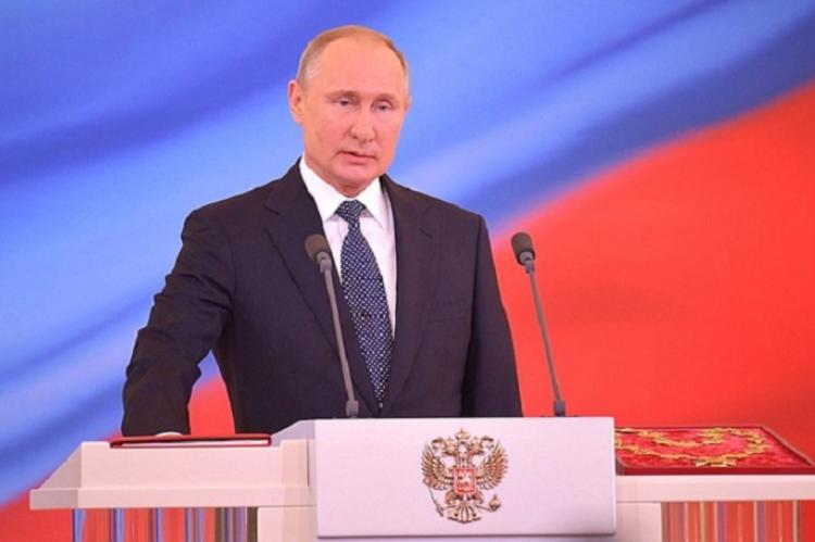Владимир Путин на инаугурации