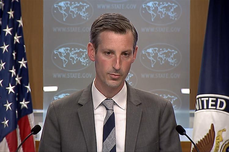 пресс-секретарь госдепартамента Нед Прайс