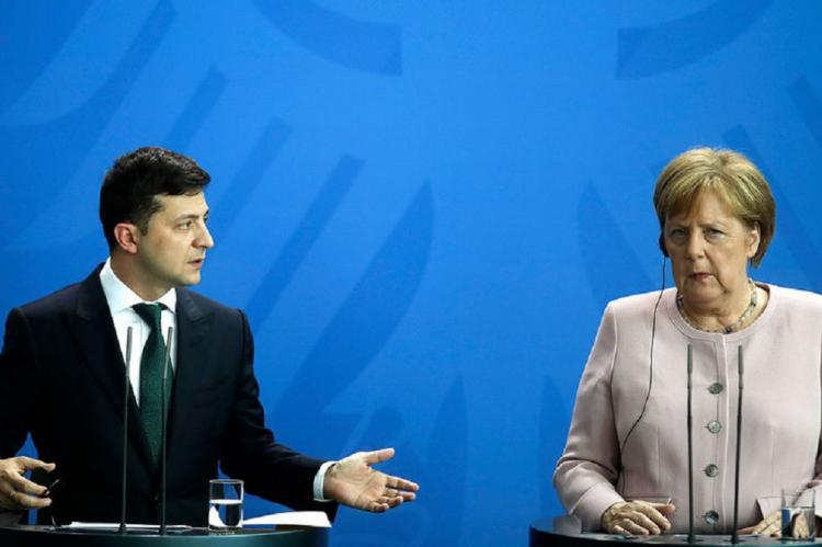 Меркель и Зеленский, встреча 22 августа