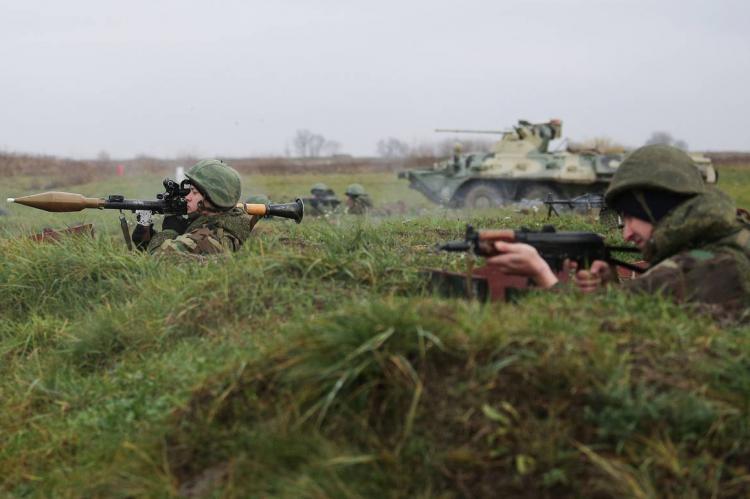 Военные на занятиях