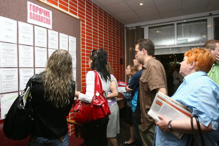 Безработные изучают перечень вакансий