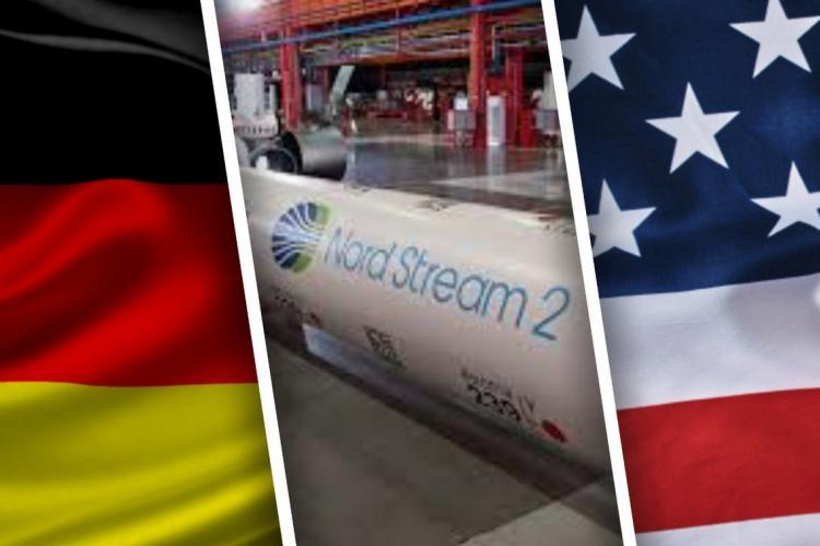 Флаги Германии и США