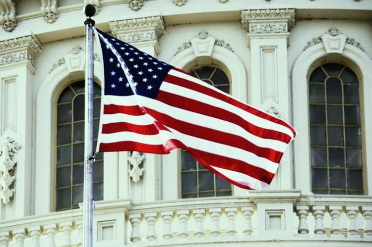 Флаг США в Вашингтоне