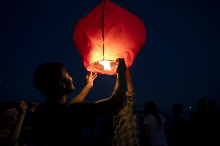 Китайские небесные фонарики