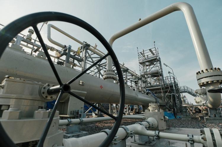 Газовое оборудование «Северного потока-2» на береговом участке в России