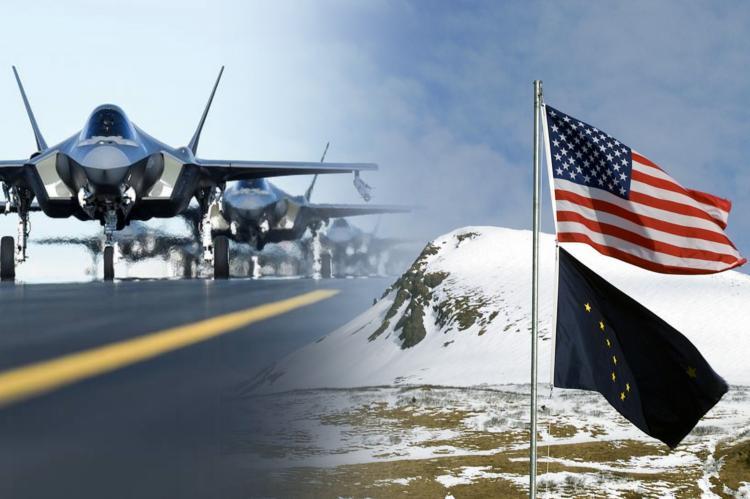Истребители F-35, база США на Аляске