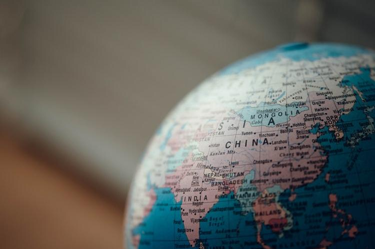Китай на глобусе