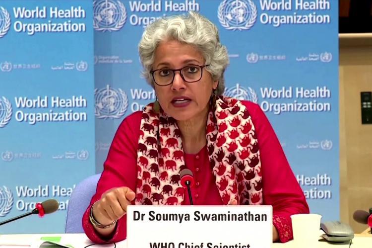 Главный научный сотрудник Всемирной организации здравоохранения (ВОЗ) Сумья Сваминатан