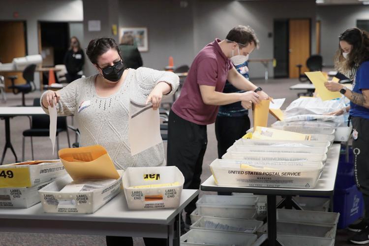 Подсчет голосов по итогам выборов в США