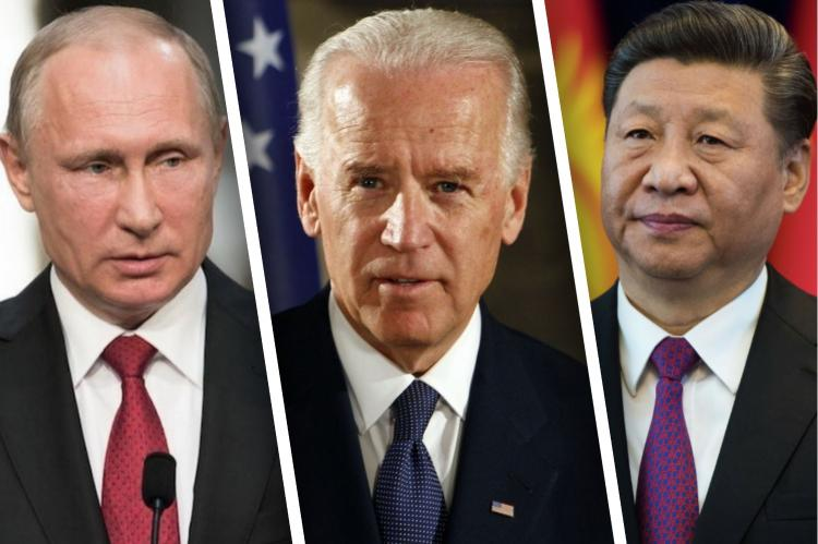 Владимир Путин, Джо Байден, Си Цзиньпин