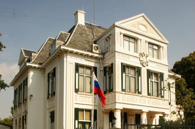 Здание посольства РФ в Нидерландах