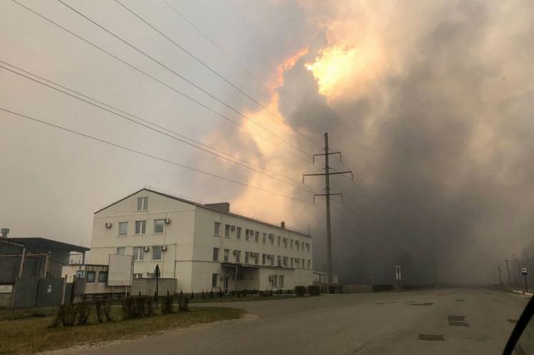 Пожар Чернобыльская АЭС