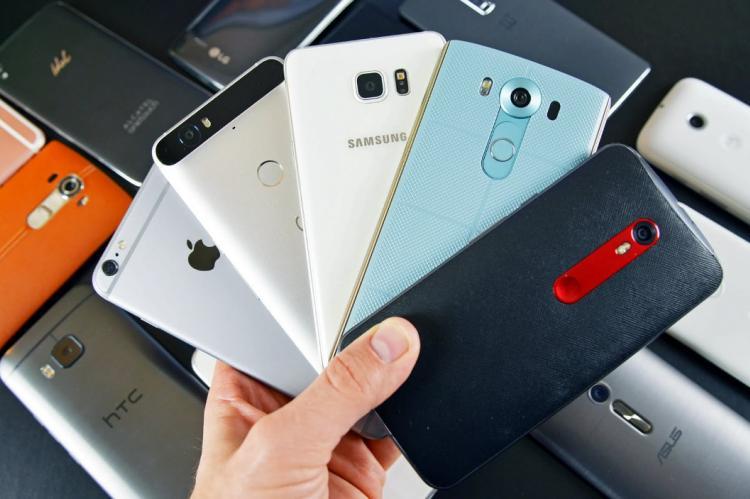 Смартфоны различных производителей