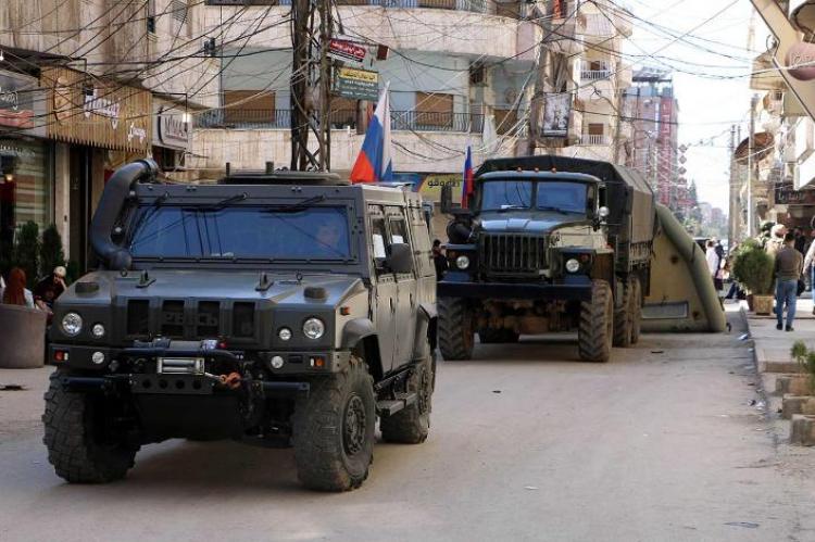 В Сирии произошел дорожный инцидент с участием российского патруля и американских военных