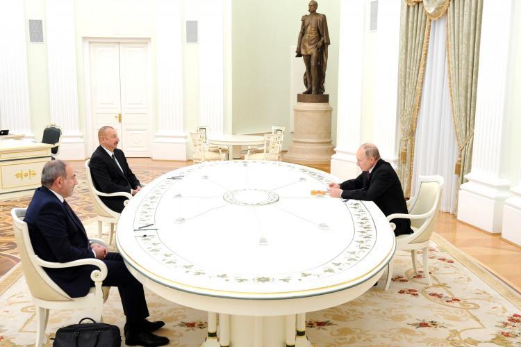 Владимир Путин, Ильхам Алиев, Никол Пашинян
