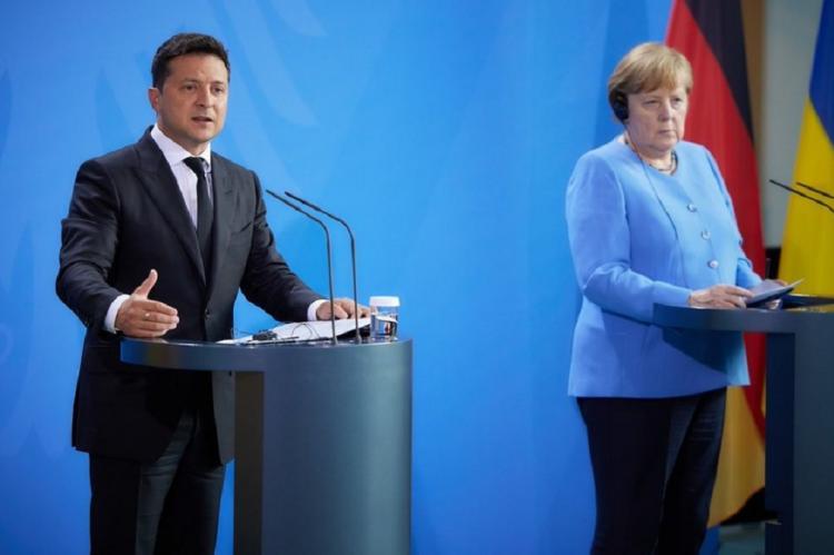 Переговоры Меркель и Зеленского в Киеве