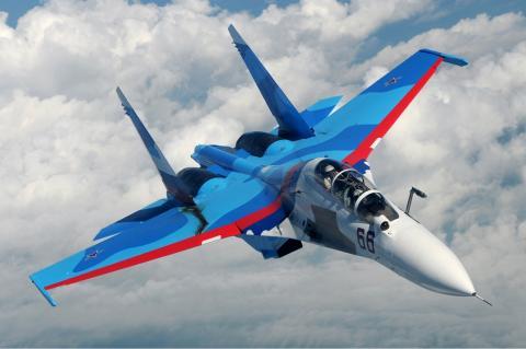 Российский истребитель упал в Средиземное море