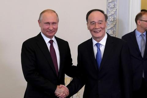 Владимир Путин и Ван Цишань