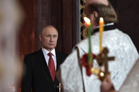 Путин не пойдет на пасхальную службу в Храм Христа Спасителя