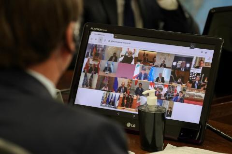 СМИ узнали об отмене видеоконференции стран G20 из-за спора США и КНР