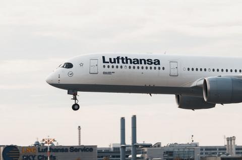 Лайнер немецкой авиакомпании Lufthansa