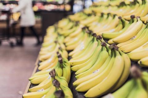 Бананы на прилавке
