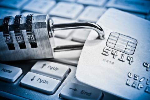 Кодовый замок на банковской карте