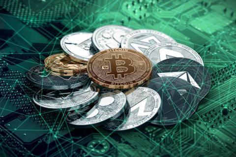 Криптовалюта в виде монет
