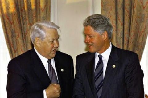 Борис Ельцин и Билл Клинтон