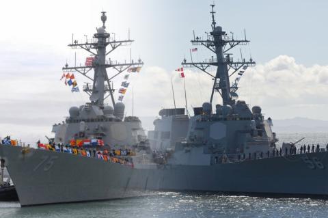 """Американские эсминцы """"Джон Маккейн"""" и """"Дональд Кук"""""""
