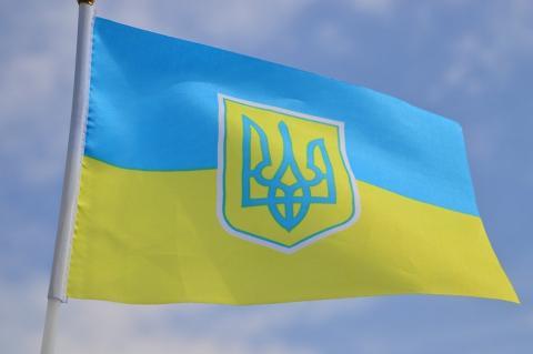 Флаг Украины с трезубцем