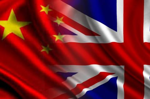Флаги Китая и Великобритании