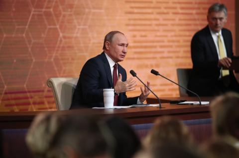 Владимир Путин, пресс-конференция