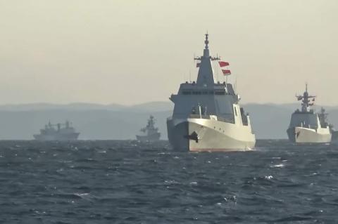 Совместные морские учения России и Китая