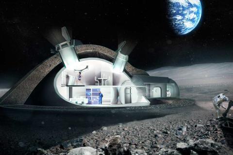 Вариант лунной станции