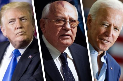 Дональд Трамп, Михаил Горбачев, Джо Байден