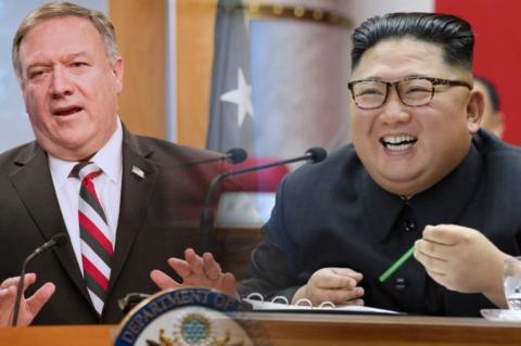 Майк Помпео и Ким Чен Ын