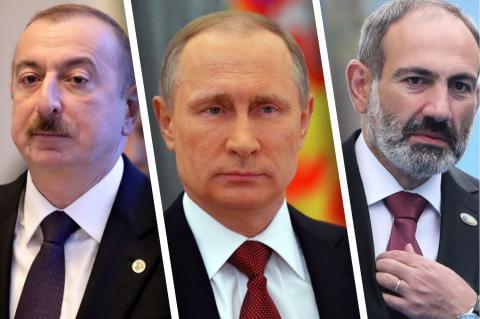 Ильхам Алиев, Владимир Путин, Никол Пашинян