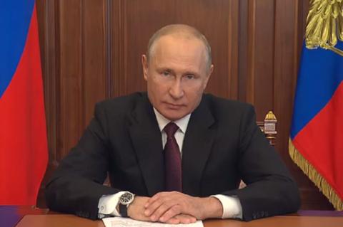 Путин поблагодарил россиян за ответственное отношение к соблюдению карантина в период пандемии