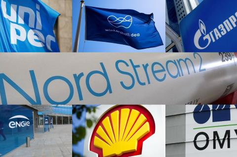 """""""Газпром"""", ENGIE, OMV, Shell, Wintershall, Uniper, """"Северный поток-2"""""""