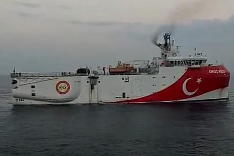 Турецкое исследовательское судно у берегов Греции