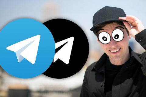 Логотипы мессенджера Telegram