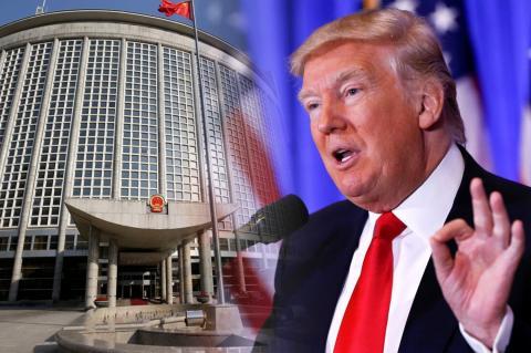 МИД Китая, Дональд Трамп