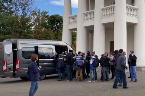 Задержание журналистов в Минске