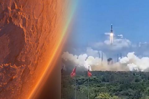 Запуск ракеты к Марсу