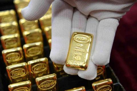 Золотые слитки России